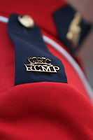 GRC RCMP Police badge is seen during a ceremony for the UN veterans in Quebec City Thursday August 9, 2012.