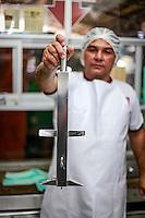 Processamento de branqueamento do a&ccedil;a&iacute; para consumo.<br /> Foto Carlos Borges.