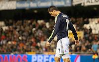 Partido Liga 1ª Division, Valencia - R. Madrid en el estadio Mestalla en Valencia