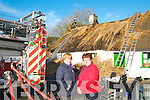 Bridget O'Connor & Anne Marie O'Sullivan of the Sean McCarthy Committee pictured at Sheehan thatch cottage fire in Finuge on Monday morning last.