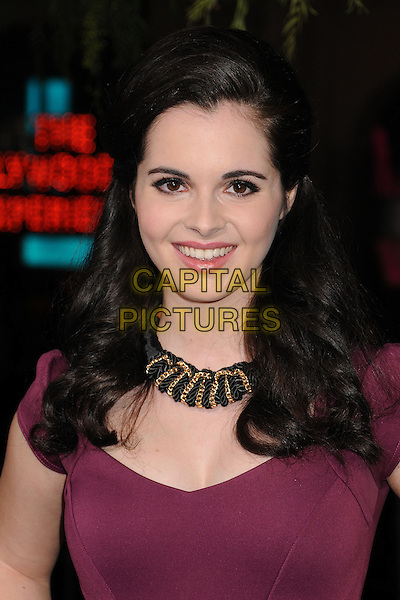 "Vanessa Marano.""Beautiful Creatures"" Los Angeles Premiere held at the TCL Chinese Theatre, Hollywood, California, USA. .February 6th, 2013.headshot portrait purple pink fuchsia dress black necklace .CAP/ADM/BP.©Byron Purvis/AdMedia/Capital Pictures."