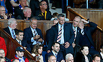 Mark Warburton and Stewart Robertson in the directors box