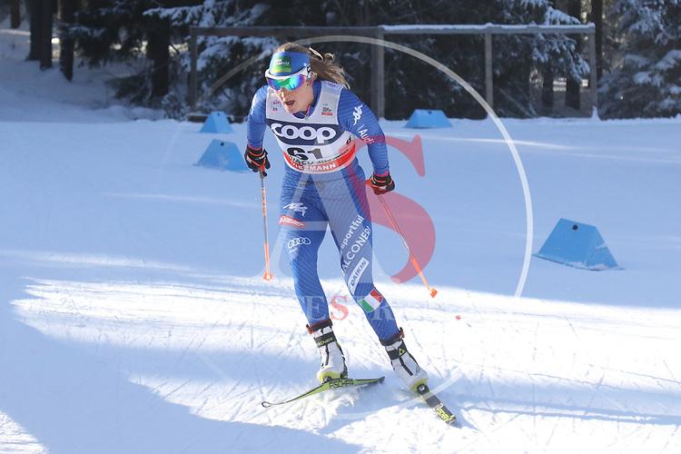 Cross Country Ski World Cup 2018 FIS in Dobbiaco, Toblach, on December 16, 2017; Ladies 10 Km Interval Start Free technique ; Lucia Scardoni (ITA)<br /> &copy; Pierre Teyssot / Pentaphoto