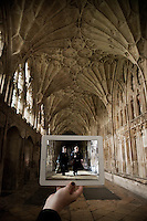 Pictured: Filming of Harry Potter in Gloucester Cathedral with Daniel Radcliffe and Rupert Grint<br />