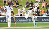 3rd December 2017, Wellington, New Zealand;  Colin de Grandhomme bowling.<br /> Day 3. New Zealand Black Caps v West Indies. 1st test match of the ANZ International Cricket Season 2017/18 season. Basin Reserve, Wellington,