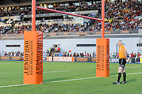 20130803 Copyright onEdition 2013 ©<br /> Free for editorial use image, please credit: onEdition.<br /> <br /> An assistant referee looks on during the J.P. Morgan Asset Management Premiership Rugby 7s Series.<br /> <br /> The J.P. Morgan Asset Management Premiership Rugby 7s Series kicks off for the fourth season on Thursday 1st August with Pool A at Kingsholm, Gloucester with Pool B being played at Franklin's Gardens, Northampton on Friday 2nd August, Pool C at Allianz Park, Saracens home ground, on Saturday 3rd August and the Final being played at The Recreation Ground, Bath on Friday 9th August. The innovative tournament, which involves all 12 Premiership Rugby clubs, offers a fantastic platform for some of the country's finest young athletes to be exposed to the excitement, pressures and skills required to compete at an elite level.<br /> <br /> The 12 Premiership Rugby clubs are divided into three groups for the tournament, with the winner and runner up of each regional event going through to the Final. There are six games each evening, with each match consisting of two 7 minute halves with a 2 minute break at half time.<br /> <br /> For additional images please go to: http://www.w-w-i.com/jp_morgan_premiership_sevens/<br /> <br /> For press contacts contact: Beth Begg at brandRapport on D: +44 (0)20 7932 5813 M: +44 (0)7900 88231 E: BBegg@brand-rapport.com<br /> <br /> If you require a higher resolution image or you have any other onEdition photographic enquiries, please contact onEdition on 0845 900 2 900 or email info@onEdition.com<br /> This image is copyright the onEdition 2013©.<br /> <br /> This image has been supplied by onEdition and must be credited onEdition. The author is asserting his full Moral rights in relation to the publication of this image. Rights for onward transmission of any image or file is not granted or implied. Changing or deleting Copyright information is illegal as specified in the Copyright, Design and Patents Act 1988. If you are