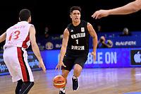 New Zealand Tall Blacks' Reuben Te Rangi in action during the FIBA World Cup Basketball Qualifier - NZ Tall Blacks v Syria at TSB Bank Arena, Wellington, New Zealand on Sunday 2 2018. <br /> Photo by Masanori Udagawa. <br /> www.photowellington.photoshelter.com
