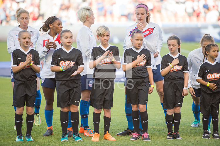 Sandy, Utah - Thursday June 07, 2018: USWNT vs China PR at Rio Tinto stadium, Rio Tinto stadium during an international friendly match between the women's national teams of the United States (USA) and China PR (CHN) at Rio Tinto Stadium.