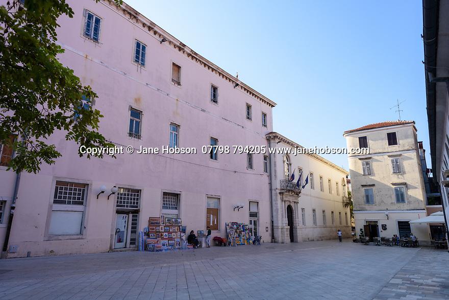 Zadar, Croatia. 14.10.2018. The Rector's Palace, Knezeva Palaca, Old Town, Zadar, Croatia. Photograph © Jane Hobson.