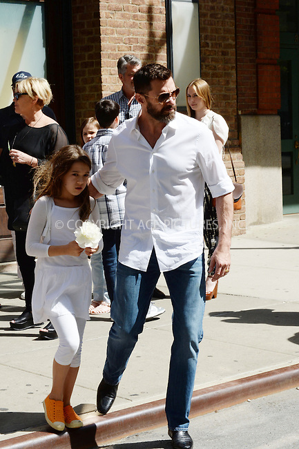 WWW.ACEPIXS.COM<br /> May 11, 2014 New York City<br /> <br /> Ava Jackman and Hugh Jackman out and about on Mother's Day in New York City on May 11, 2014.<br /> <br /> By Line: Kristin Callahan/ACE Pictures<br /> ACE Pictures, Inc.<br /> tel: 646 769 0430<br /> Email: info@acepixs.com<br /> www.acepixs.com
