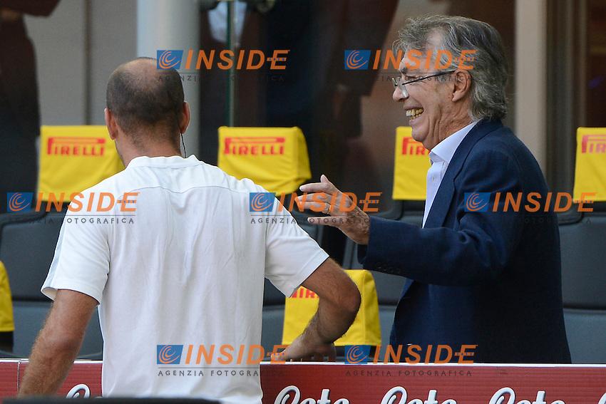 Rodrigo Palacio e Massimo Moratti<br /> Milano 25-09-2016 Stadio Giuseppe Meazza - Football Calcio Serie A Inter - Bologna. Foto Giuseppe Celeste / Insidefoto
