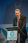 Brexit Party EU elections campaign launch at  The Neon in Newport, South Wales. Nathan Gill of The Brexit Party speaking to delegates.