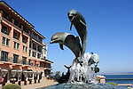 Dolphin fountain on Cannery Row