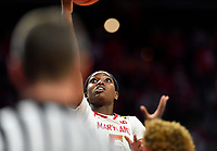 College Park, MD - March 23, 2019: Maryland Terrapins guard Kaila Charles (5) goes up for a layup during first round action of game between Radford and Maryland at Xfinity Center in College Park, MD. Maryland defeated Radford 73-51. (Photo by Phil Peters/Media Images International)