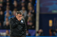 Leicester City Manager Craig Shakespeare holds his head during the UEFA Champions League QF 2nd Leg match between Leicester City and Atletico Madrid at the King Power Stadium, Leicester, England on 18 April 2017. Photo by Andy Rowland.