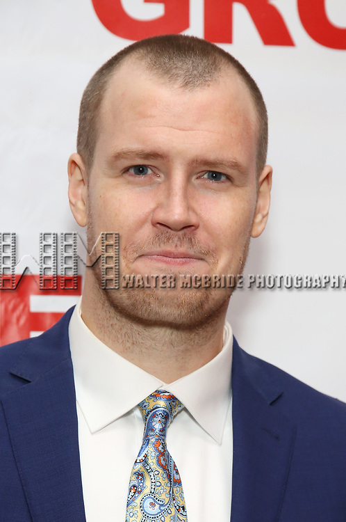 """Billy Hepfinger attends the Off-Broadway Opening Night Premiere of  """"Jerry Springer-The Opera"""" on February 22, 2018 at the Green Fig Urban Eatery in New York City."""