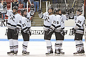 Providence salutes its fans - The Boston College Eagles defeated the Providence College Friars 4-1 on Saturday, January 7, 2006, at Schneider Arena in Providence, Rhode Island.