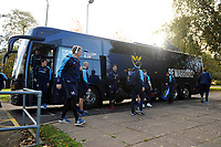 The Worcester Warriors players arrive at Allianz Park. Premiership Rugby Cup match, between Saracens and Worcester Warriors on November 11, 2018 at Allianz Park in London, England. Photo by: Patrick Khachfe / JMP