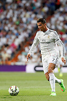 Cristiano Ronaldo of Real Madrid during La Liga match between Real Madrid and Atletico de Madrid at Santiago Bernabeu stadium in Madrid, Spain. September 13, 2014. (ALTERPHOTOS/Caro Marin)