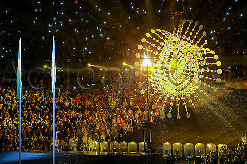 07.9.2016. Rio de Janeiro, Brazil.  Swimmer Clodoaldo Silva of Brazil looks on after lighting the Paralympic flame during the Opening Ceremony of the Rio 2016 Paralympic Games at Maracana Stadium, Rio de Janeiro, Brazil, 07 September 2016.