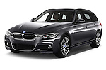 2016 BMW 3 Series M Sport 5 Door Wagon Angular Front stock photos of front three quarter view