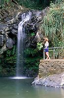 Karibik, Kleine Antillen, Grenada: Annadale Wasserfall | Caribbean, Lesser Antilles, Grenada: Annadale Waterfalls