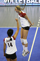 14 December 2006: Stanford Cardinal Kristin Richards during Stanford's 30-12, 30-25, 30-15 win against the Washington Huskies in the 2006 NCAA Division I Women's Volleyball Final Four semifinal match at the Qwest Center in Omaha, NE.