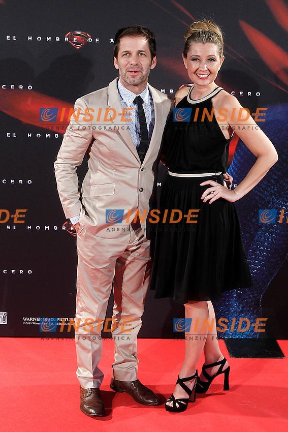 Film Director Zack Snyder and his wife the Producer Deborah Snyder attend the spanish premier of the film 'Man of Steel&quot; (El hombre de acero).June 17,2013.(ALTERPHOTOS/Acero) <br /> foto INSIDEFOTO
