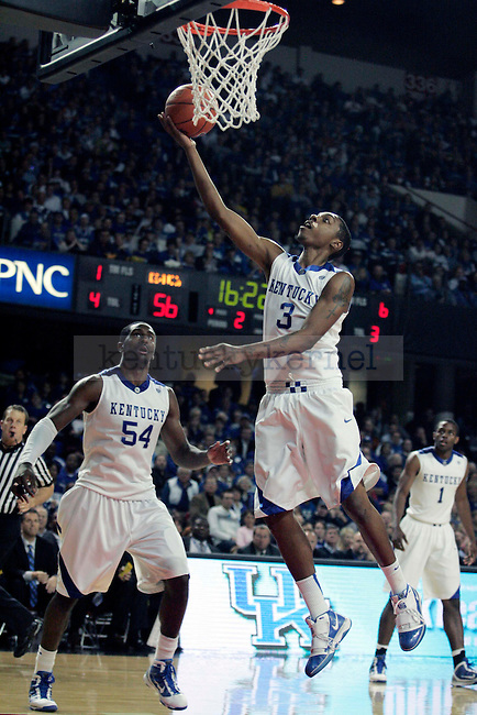 Freshman guard Darnell Dodson takes a shot in the second half of UK's 94-57 win over UNC Asheville at Freedom Hall on Monday, Nov. 30, 2009. Photo by Britney McIntosh | Staff