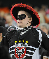DC United fan.   DC United defeated The Seattle Sounders 2-1, at RFK Stadium, Wednesday  May 4, 2011.