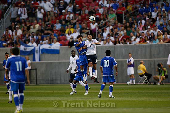 Sandy - USA vs. El Salvadar FIFA World Cup Qualifier Soccer Saturday, September 5 2009 at Rio Tinto Stadium. .El Salvador midfielder Ramon Sanchez USA midfielder Clint Dempsey