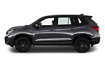 Car Driver side profile view of a 2019 Honda Passport Sport 5 Door SUV Side View