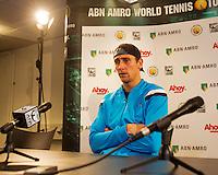 12-02-14, Netherlands,Rotterdam,Ahoy, ABNAMROWTT, Thiemo de Bakker(NED)<br /> Photo:Tennisimages/Henk Koster