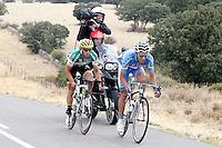 Aitor Galdos (l) and Jose Vicente Toribio during the stage of La Vuelta 2012 beetwen Penafiel-La Lastrilla.September 7,2012. (ALTERPHOTOS/Paola Otero) /NortePhoto.com<br /> <br /> **CREDITO*OBLIGATORIO** *No*Venta*A*Terceros*<br /> *No*Sale*So*third* ***No*Se*Permite*Hacer Archivo***No*Sale*So*third