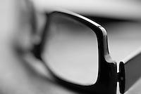 Macro Shot of the Edge of a pair of eyeglasses