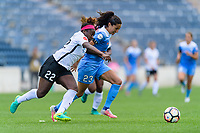 Bridgeview, IL - Sunday June 25, 2017: Mandy Freeman, Christen Press during a regular season National Women's Soccer League (NWSL) match between the Chicago Red Stars and Sky Blue FC at Toyota Park. The Red Stars won 2-1.
