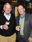 Brian O'Halloran and Joe McDonnell at Eddie Thornton's 75th birthday in The Cottage Inn Laytown. Photo:Colin Bell/pressphotos.ie