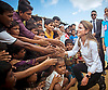 Queen Rania's Military Boots For Refugee Visit