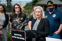 United States Senator Kirsten Gillibrand (Democrat of New York) offers remarks during a press conference regarding legislation to assist veterans exposed to burn pits, outside the US Capitol in Washington, DC., Tuesday, September 15, 2020. <br /> Credit: Rod Lamkey / CNP /MediaPunch