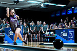 CLAYTON, MO - APRIL 14: Lauren Pate #9 releases the ball during the Division I Women's Bowling Championship held at Tropicana Lanes on April 14, 2018 in Clayton, Missouri. Vanderbilt University defeated McKendree University 4-3. (Photo by Tim Nwachukwu/NCAA Photos via Getty Images)