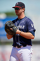 Binghamton Rumble Ponies first baseman Peter Alonso (16) during a game against the Altoona Curve on June 14, 2018 at NYSEG Stadium in Binghamton, New York.  Altoona defeated Binghamton 9-2.  (Mike Janes/Four Seam Images)