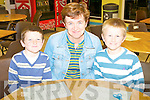FAMILY MATHS: Enjoying the Family Math's Fun night at Tralee IT south campus as part of the National Math's week on Thursday l-r: Michae?l, Regina and Jack Dolan, Churchill.