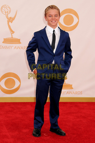 Maxwell Cotton<br /> 65th Annual Primetime Emmy Awards - Arrivals held at Nokia Theatre L.A. Live, Los Angeles, California, USA.<br /> September 22nd, 2013<br /> full length white blue suit  <br /> CAP/ADM/BP<br /> &copy;Byron Purvis/AdMedia/Capital Pictures