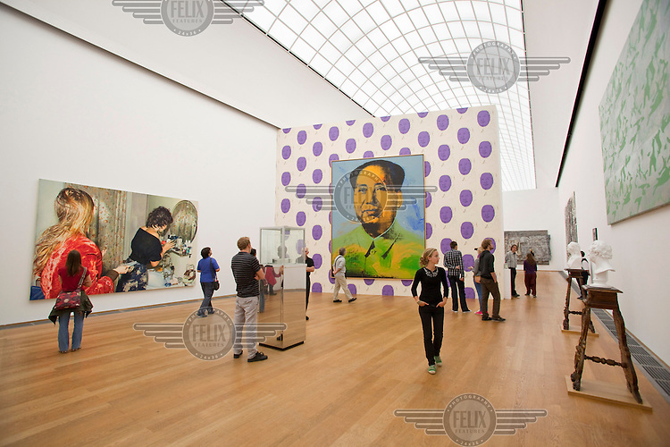 The Hamburger Bahnhof Museum of Contemporary Art opened in 1997 in a former Berlin railway station with works by German and international artists (such as Andy Warhol's Mao portrait)..