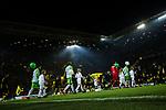 14.01.2018, Signal Iduna Park, Dortmund, GER, 1.FBL, Borussia Dortmund vs VfL Wolfsburg, <br /> <br /> im Bild | picture shows:<br /> Die Mannschaften laufen ins Stadion ein, <br /> <br /> Foto &copy; nordphoto / Rauch