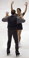 From Canada, silver medal winners Jamie Sale and David Pelletier. Pairs Free Skating finals Monday night at the Salt Lake Ice Center, 2002 Olympic Winter Games.; 02.11.2002, 9:08:21 PM<br />