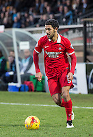Jobi McAnuff of Leyton Orient in action during the Sky Bet League 2 match between Wycombe Wanderers and Leyton Orient at Adams Park, High Wycombe, England on 23 January 2016. Photo by Massimo Martino / PRiME Media Images.