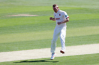 Jamie Porter of Essex celebrates taking the wicket of Joe Clarke during Essex CCC vs Nottinghamshire CCC, Specsavers County Championship Division 1 Cricket at The Cloudfm County Ground on 14th May 2019