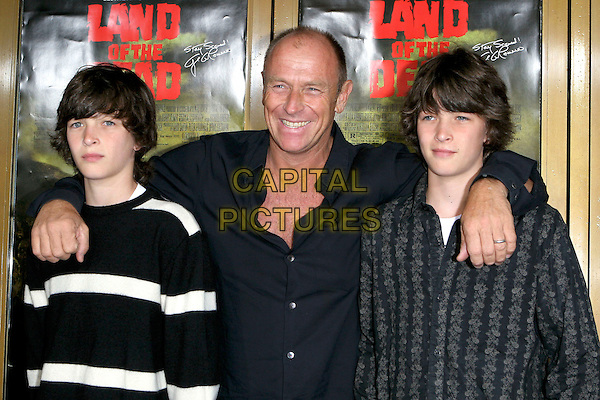 """CORBIN BERNSEN & SONS ANGUS & HENRY.George A. Romero's """"Land Of The Dead"""" Special Los Angeles Screening held at the Mann National Theatre, Westwood, CA, USA, 20 June 2005..half length.Ref: ADM.www.capitalpictures.com.sales@capitalpictures.com.©Jacqui Wong/AdMedia/Capital Pictures."""