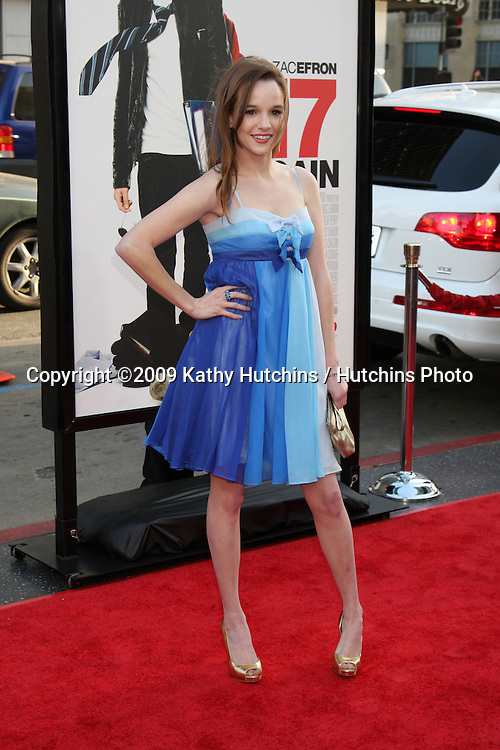 Kay Panabaker  arriving at the 17 Again Premiere at Grauman's Chinese Theater in Los Angeles, CA on April 14, 2009.©2009 Kathy Hutchins / Hutchins Photo....                .